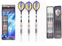 1 sets (3 pcs) of Tungsten steel Steel Tip 23g Darts Aluminium Shafts darts flight flights Non-slip rubber ring Gift Package F1