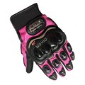 Pink color Pro biker motorcycle full finger gloves riding moto motorcross sports gloves cycling Washable glove S.M,L,XL,XXL
