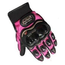 Rosa de color pro motorista de la motocicleta guantes del dedo lleno de equitación guantes de moto de motocross deportes ciclismo guante lavable s. m, l, xl, xxl