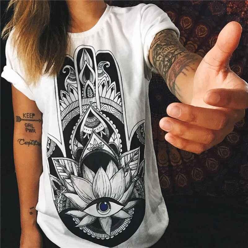 プラスサイズ Tシャツ Top 新原宿手紙印刷夏トップスファッション Tシャツ O ネック半袖カジュアル服パンク Tシャツトップス