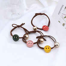 Korean Simple Small Fresh Creative Colorful Smiley Elastic Hair Bands Women Girl Fashion Personality Ponytail Accessories