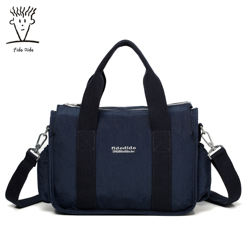 Fido Dido Brand Large Capacity Shoulder Bags for women&Men Handbag Female High Quality Nylon Tote Bag Fashion 2017!! fido