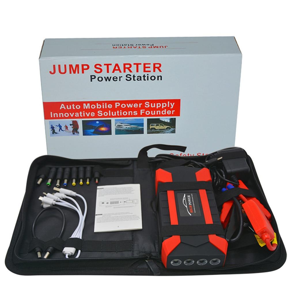 Portable 89800mAh voiture saut démarreur batterie externe Booster cellule de Charge 4 USB démarrage dispositif Charge Pal lampe voiture batterie séparateur