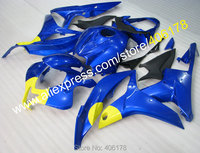 Hot Sales,For Honda CBR600RR 07 08 CBR 600RR F5 CBR 600RR 2007 2008 Blue Yellow Moto Bike Motorcycle Fairing (Injection molding)