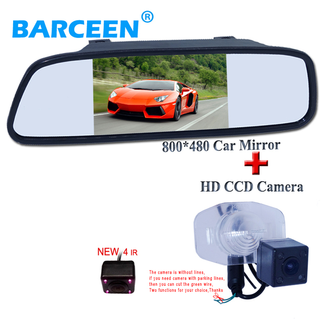 """5 """"carro invertendo monitor espelho hd cid display + 170 graus estacionamento trazer 4 ir da câmera apropriado para Toyota Corolla para BYD G3"""