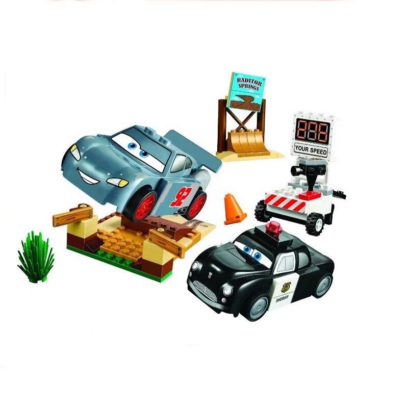 купить 10685 10686 10687Car rally Pixar Car lightning teen 3 hot sale garage lernspielzeug compatible lepin building blocks по цене 415.11 рублей