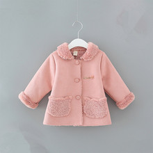 England style infant baby girls christmas jackets outwear to