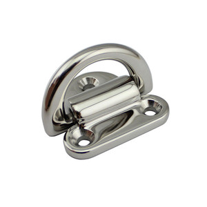 Image 4 - 6mm Folding Deck Pad Eyes lashing d ring Tie Down Point Anchor Fixing Cleat Plate Mirror Polish Marine Grade 316 Stainless Steel