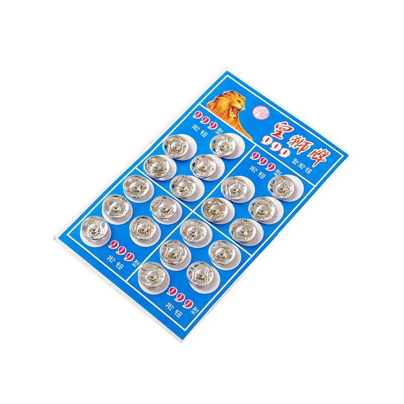 Snap button dark clasp button Silver metal steal shirt button clasp, 20 pieces a lot