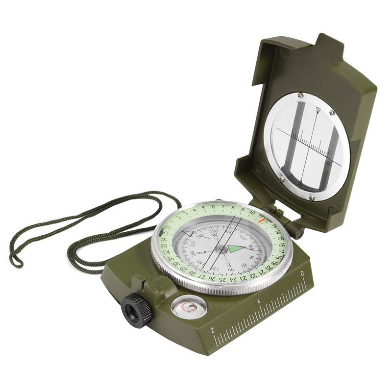 Outdoor Waterproof Survival Military Compass Hiking Camping Army Pocket Military Lensatic Compass Handheld Military Equipment01