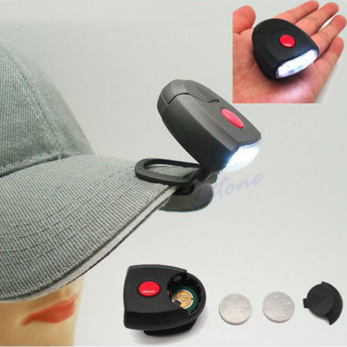 1 шт. 4 LED Клип Поворотный Кепки шлем голова Torch Light лампа Рыбалка фонарик