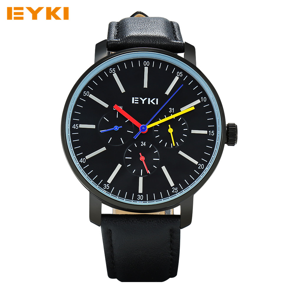 Eyki mens watches top brand luxury analog quartz watch waterproof wrist watches for men clock for Watches brands for men