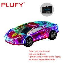 bluetooth speaker wireless speakers Transparent Sports Car Shape Speaker Colorful Flash Toy Speaker
