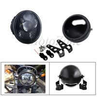 5.75 Inch Projector LED Headlight With 5.75 Housing Bracket Compatibility For Harley Sportster Iron 883 Motorcycle Headlamp