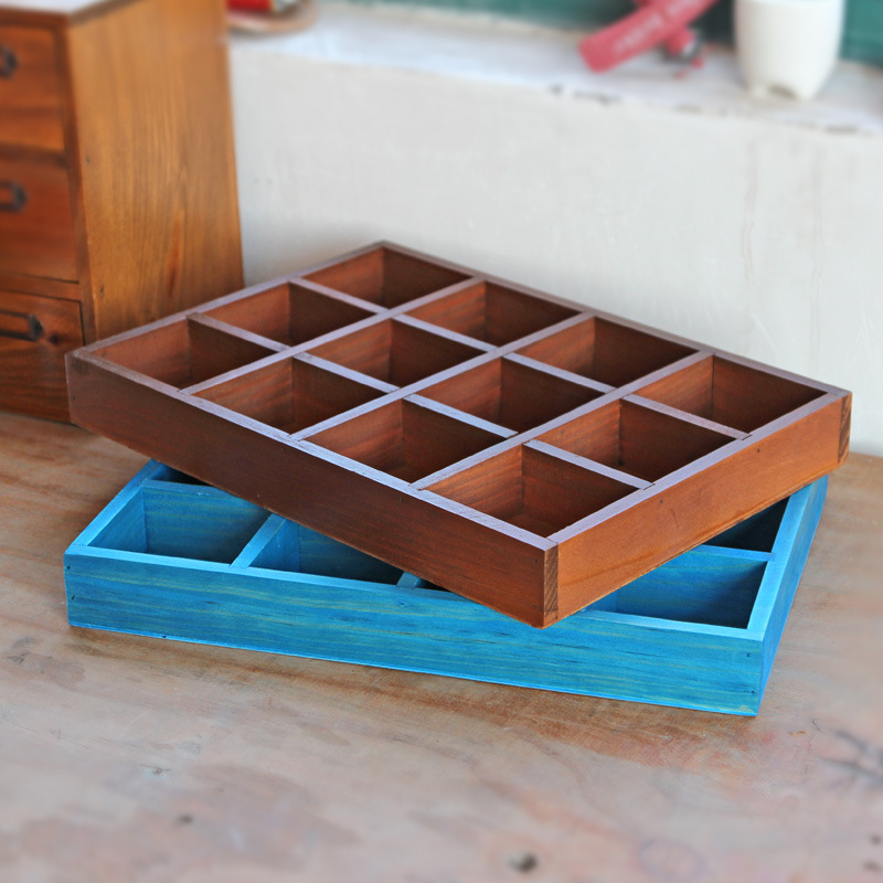 Vintage Retro Aufbewahrungsboxen Holzkiste Durable Cosmetic Box Schmuck Organizer Container Dekorative Massivholz Display-Boxen