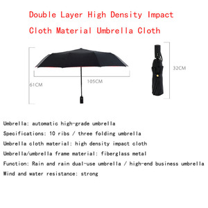 Image 4 - Full Automatic Oversize Reinforced Umbrella Three Folding Male Female Parasol Umbrella Rain Women Windproof Business Umbrella