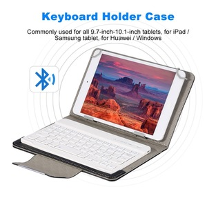 Image 3 - Wireless Bluetooth Keyboard for Tablet PU Leather Case Stand Cover For Pad 7 8 inch 9 10 inch for IOS Android Windows