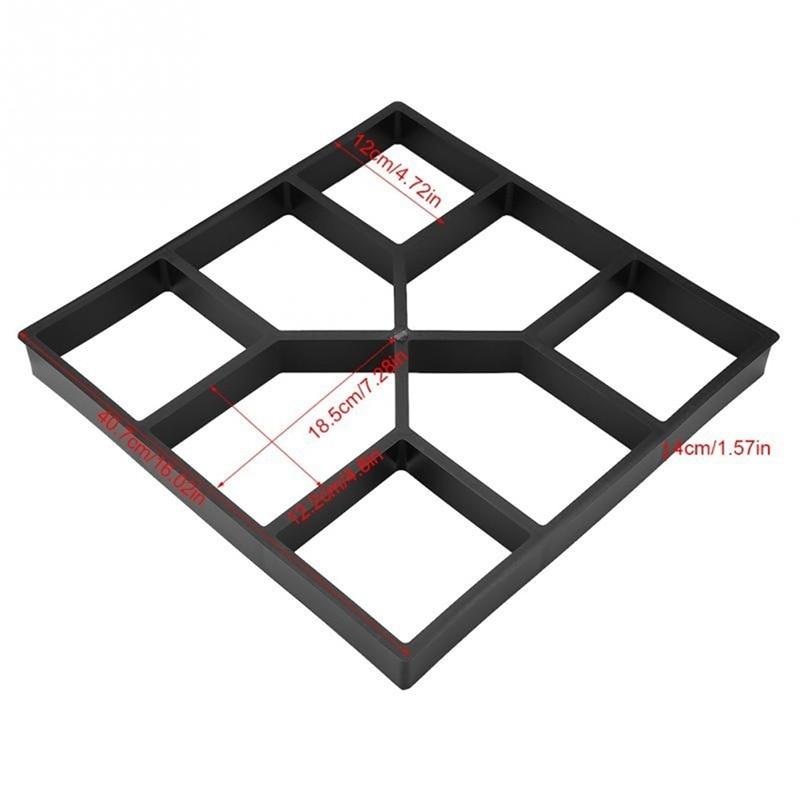 Садовая тротуарная форма, цементная Штукатурная плитка, ручной скребок, отделочный шпатель, нож, каменный скребок, грязевая доска, выскабливающая плитка - Цвет: R