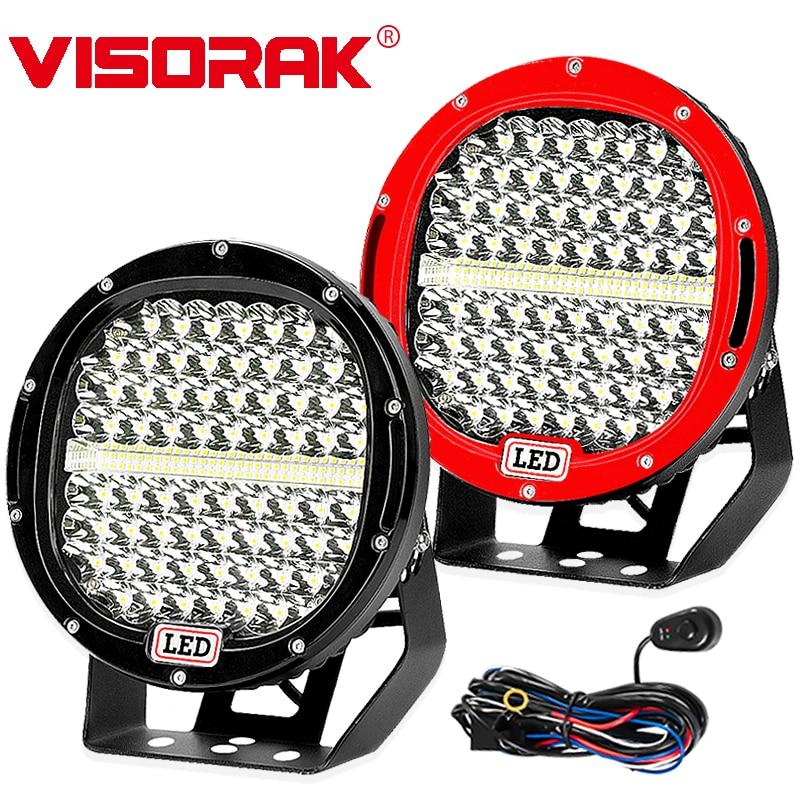 VISORAK 9 LED Barre Lumineuse de Travail 378 w 225 w Spot Flood Offroad LED Light Bar Pour 4WD 4x4 Camion Remorque SUV ATV Bateau 12 v 24 v LED Bar