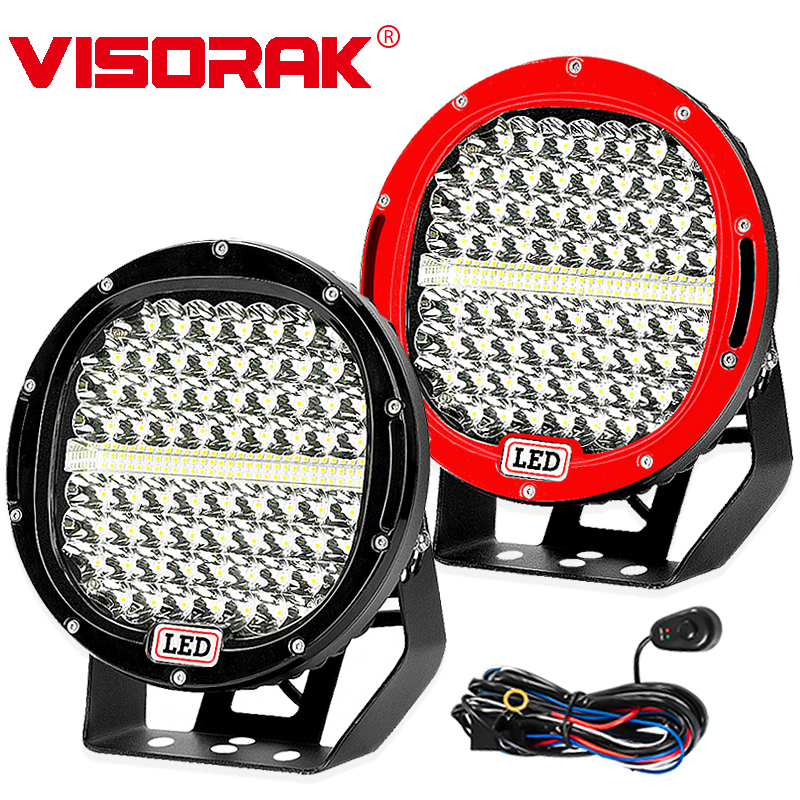 VISORAK 9 LED Work Light Bar 378w 225w Spot Flood Offroad LED Light Bar For 4WD 4x4 Truck Trailer SUV ATV Boat 12v 24v LED Bar new 30w led light bar 12v flood spot led work light bar led driving light for offroad atv 4x4 truck boat tractor marine