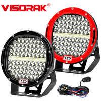 "VISORAK New Super 9"" 378W Offroad LED Work Light Bar 4x4 SUV ATV LED Light Truck LED Bar For 4WD 4x4 Car SUV ATV Offroad Truck"