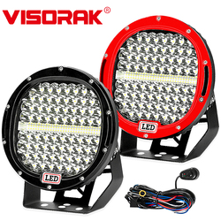 VISORAK New Super Bright 9 378W LED Work Light Bar Offroad 4x4 4wd SUV ATV LED Work Light For 4WD 4x4 Car SUV ATV Offroad Truck
