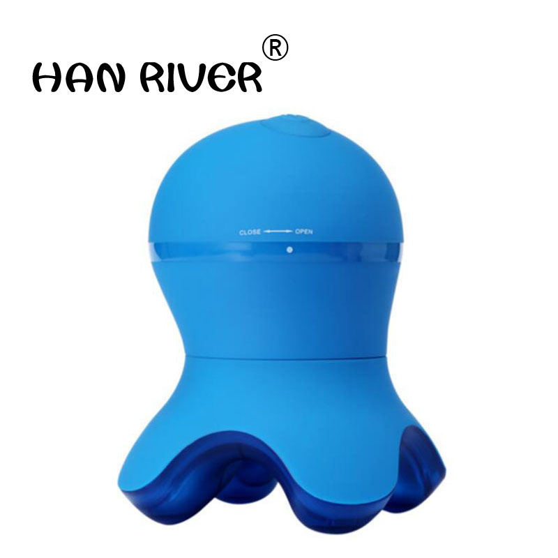 Mini portable gel de silice matériel poulpe épaule cou petit masseur imperméable à l'eau quatre-angle choc poulpe masseur vente chaude