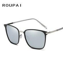 ROUPAI Fahion Square Polarized Sunglasses Men Women Retro vintage brand designer driving Sun Glasses Men's Unisex Oculos 0864