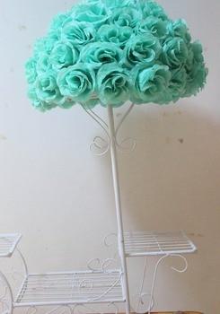 SPR 23cm*15 pcs/lot Rose kissing ball artificial silk flower wedding decoration  Tiffany Blue color