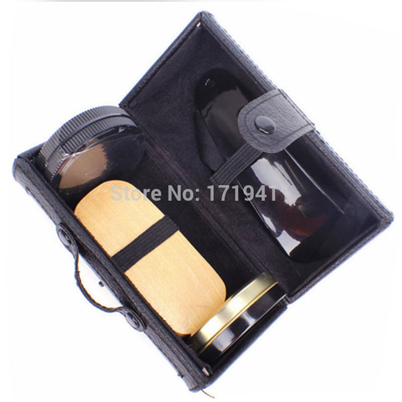 2c697ceb High Quality 5 Pieces Professional Shoe Care Tool Black & Neutral Shoe  Shine Polish Cleaning Smooth Wooden Brushes Set PO-014