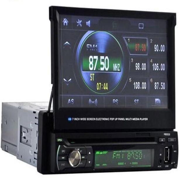 Único Carro Universal 1 Din 7 Polegada HD Touch Screen MP3/MP5 Player De Vídeo USB Bluetooth + Camera + antena