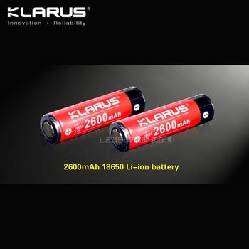 2 Pieces Portable Lighting Accessories KLARUS LiR 18650 Rechargeable Li-ion Battery 2600mAh 3.7V лампа противомоскитная thermacell trailblazer camp lantern
