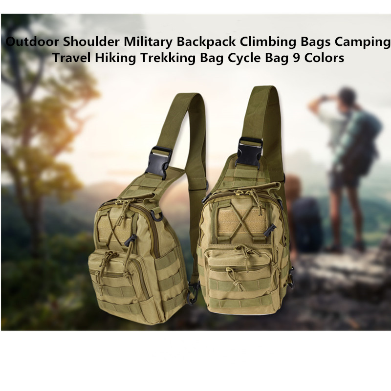 Outdoor Shoulder Military Backpack Climbing Bags Camping Travel Hiking Trekking Bag Cycle Bag 9 Colors17