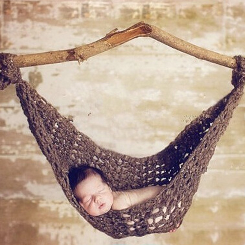 Neue Ankunft Häkeln Baby Hängematte Fotografie Requisiten Gestrickte ...