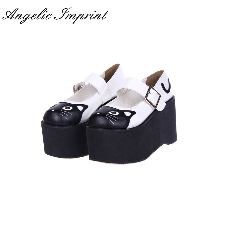 10cm High Heel Platform Lolita Cosplay Shoes Lovely Kitty Mary Jane Shoes шапка armani jeans armani jeans ar411cwjso18