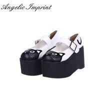 10 cm de Tacón Alto Zapatos de Plataforma Lolita Cosplay Encantador Del Gatito de Mary Jane Shoes