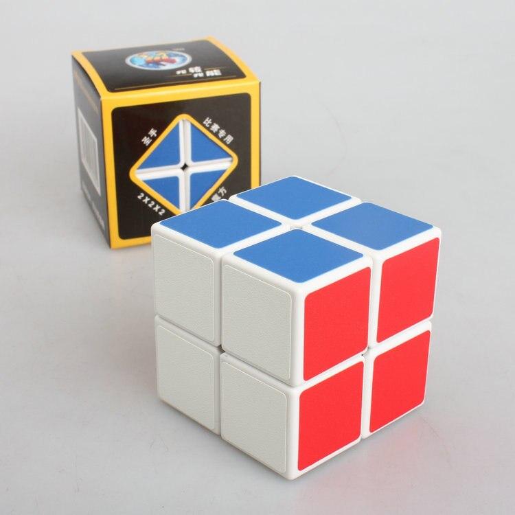 Cube 2*2*2 Classic Magic Toy PVC Sticker Block Puzzle Speed Cube Kids Toys Rubiks Cube  Magic Fidget Cubes For Children K2825