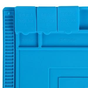 Image 4 - Hittebestendig Solderen Siliconen Mat Voor Warmte Gun BGA Soldeerstation Isolatie Pad Reparatie Tools Onderhoud Platform Bureau