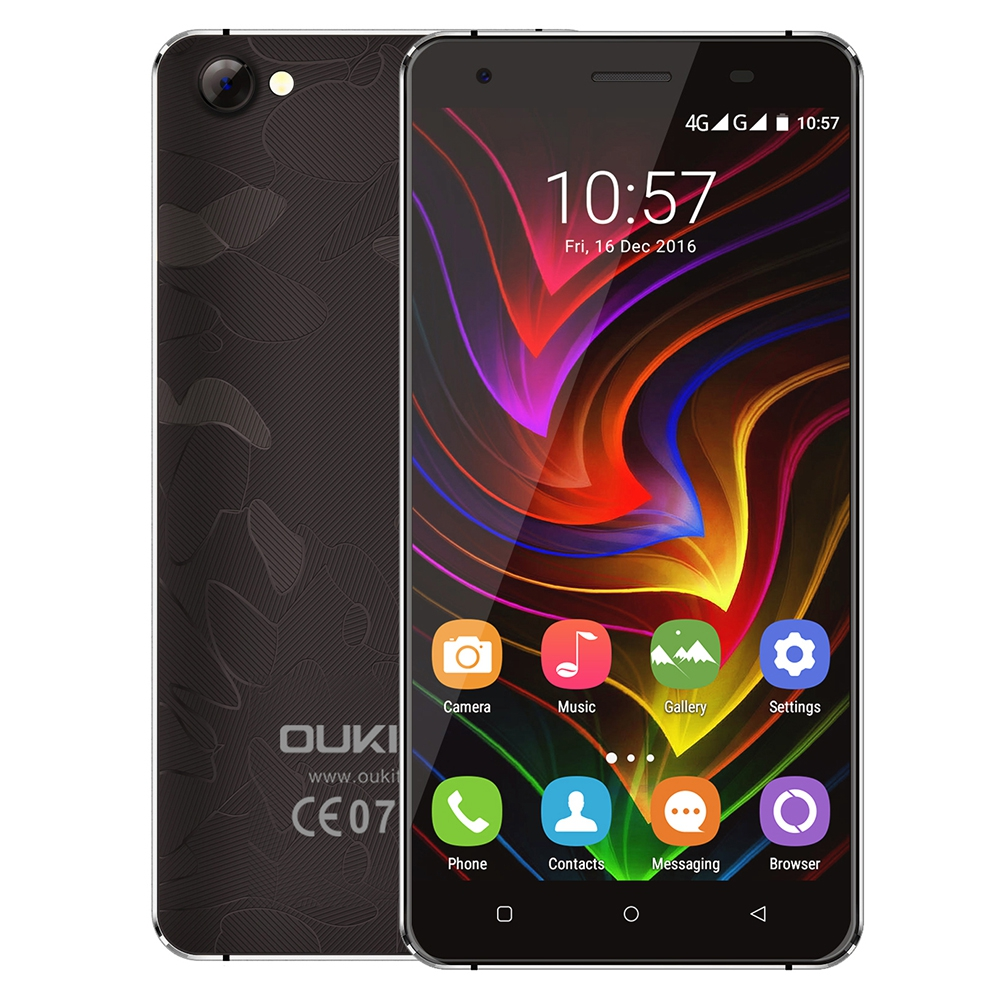 bilder für Oukitel c5 pro original 4g smartphone 5,0 zoll android 6.0 mtk6737 Quad Core 1,3 GHz 2 GB RAM 16 GB ROM Dual Kameras Multi Sprache