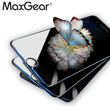 MaxGear 3PCS/Lot 9H Clear Tempered Glass For iPhone 4 4S 6 6S 7 8 Plus 5 5S 5C SE X Screen Protector Protective Shield Film