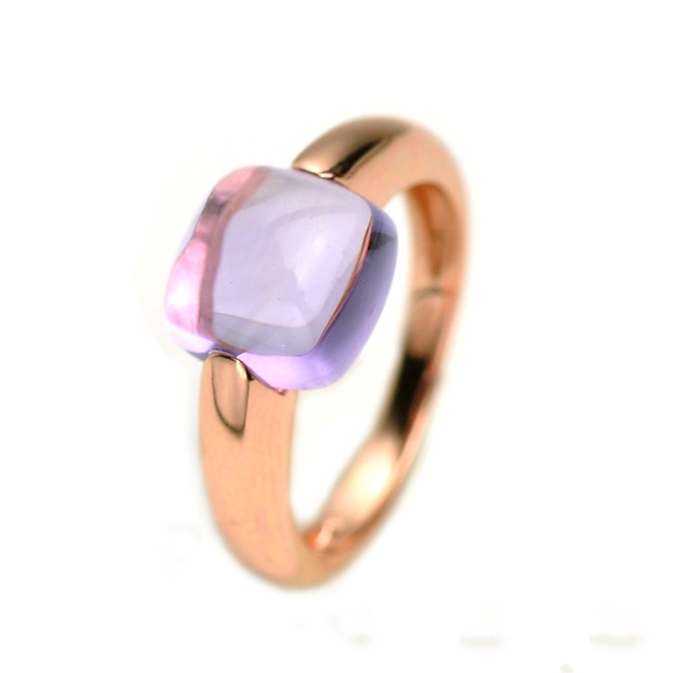 Natural Purple Amethyst Ring 925 Sterling Silver Wedding Engagement Rings For Women Fine Jewelry