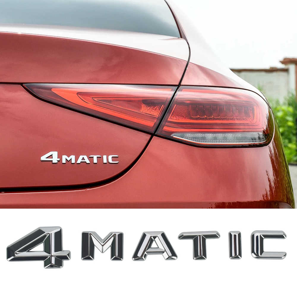 4 MATIC Lettere Emblema Auto Tronco di Coda Sticker 3D ABS Decalcomanie per Mercedes Benz SLS SLK ML320 AMG ML350 W146 r172 Accessori Auto