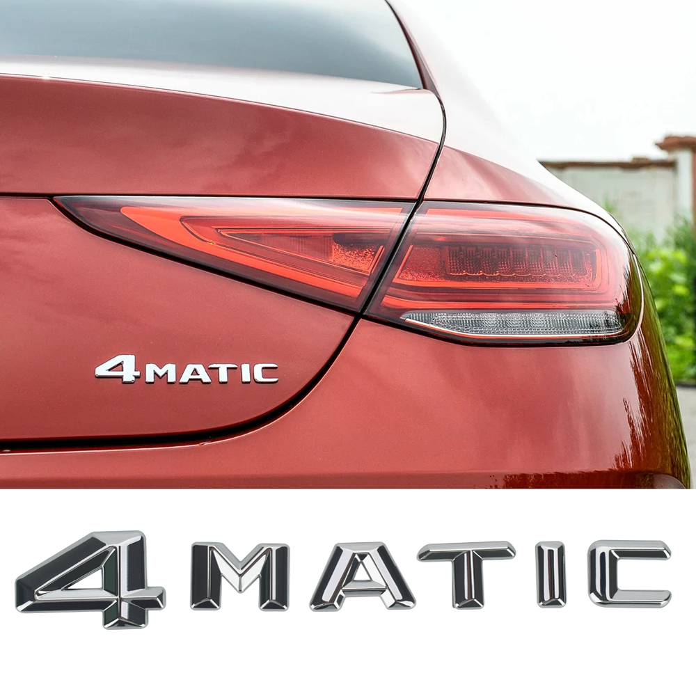 4MATIC Logo Mercedes Benz için AMG GT A B C E r E r E r E r E r E r E r E r E r E r G sınıfı CLA CLS GLA GLC GLS GLE SLC SL CLS SLK araba Styling vücut yapışkan yazı