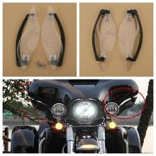Clear Side Wings Windshield Air Deflectors For Harley Davidson Touring Street Electra Glide 2014 2018