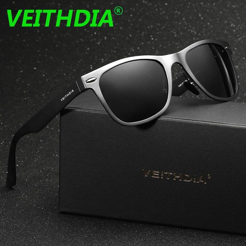OCCHIALI DA SOLE VEITHDIA di Magnesio Alluminio A Specchio degli uomini  Occhiali Da Sole Polarizzati Occhiali Da Sole di Guida di Vetro Goggle  Occhiali ... e9d1af3d31