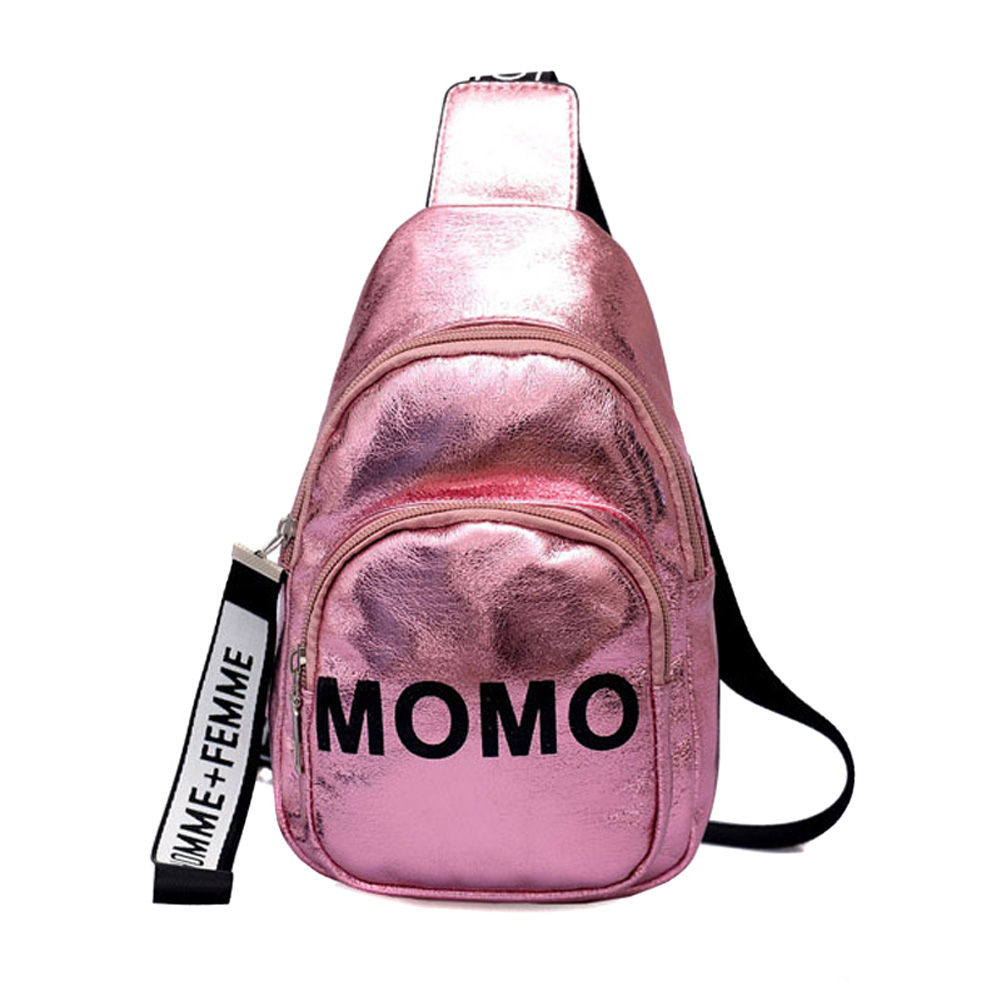 2019 New Fashion Stylish Women Waist Bag PU MOMO Printed Solid Color Chest Bag For Outdoor Sport WML99