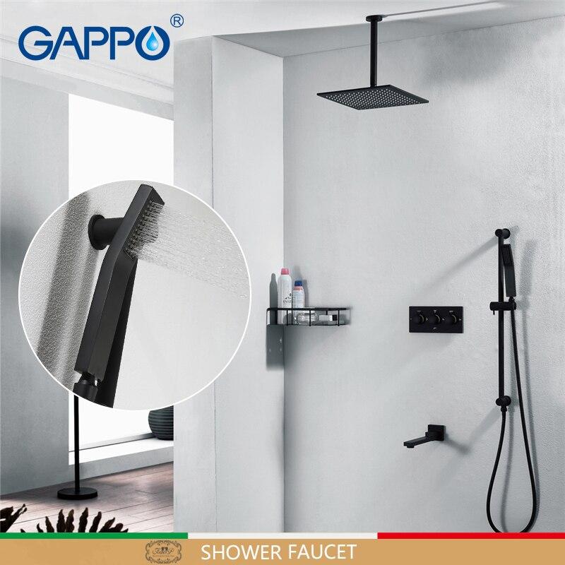 GAPPO shower Faucet concealed shower mixer bath faucet mixer bathroom black Tap set bathtub shower bath set shower faucets      GAPPO shower Faucet concealed shower mixer bath faucet mixer bathroom black Tap set bathtub shower bath set shower faucets