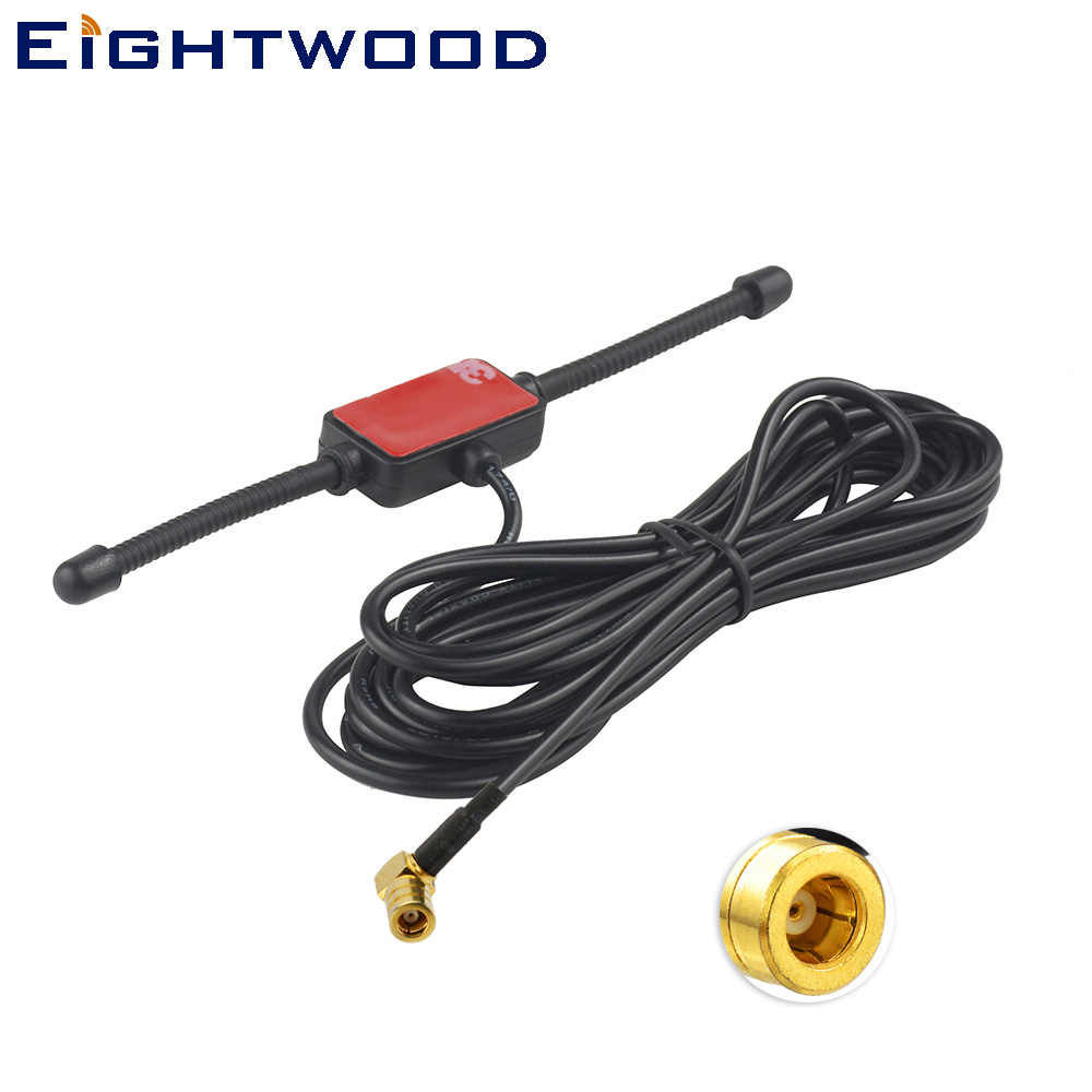Eightwood 433MHz DAB/DAB+ Auto Car Radio Aerial Amplified Universal Glass Mount Antenna for JVC Pioneer Kenwood Alpine