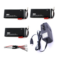 3pcs Hubsan X4 Batteries H502S RC 610mAh Lipo 7 4V RC Drone Battery 15C 4 5Wha