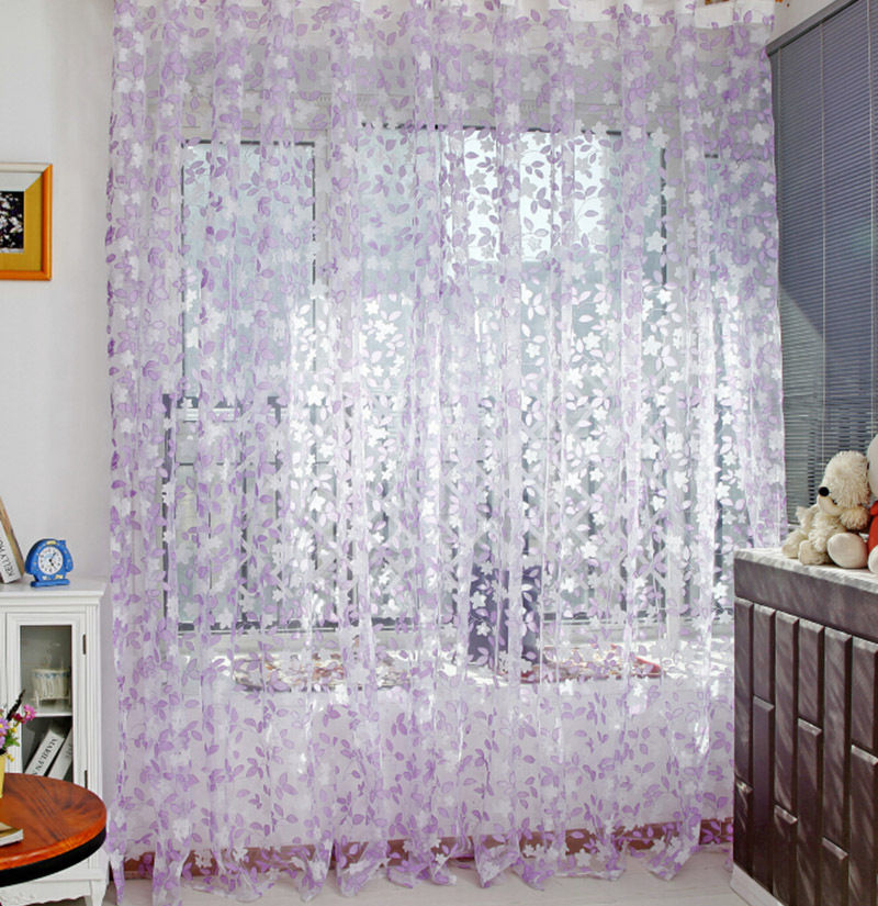 Country Style Leaf Tassel Drape Room Window Vestibule Door Wall Panel  String Curtain For Home Hotel